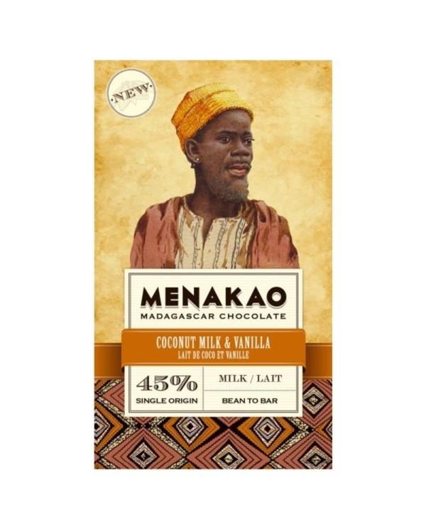 Milk chocolate (45% cacao min) – madagaskan vanilla & coconut