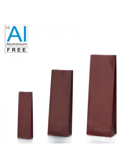 Block bottom bags in matt finish - RED