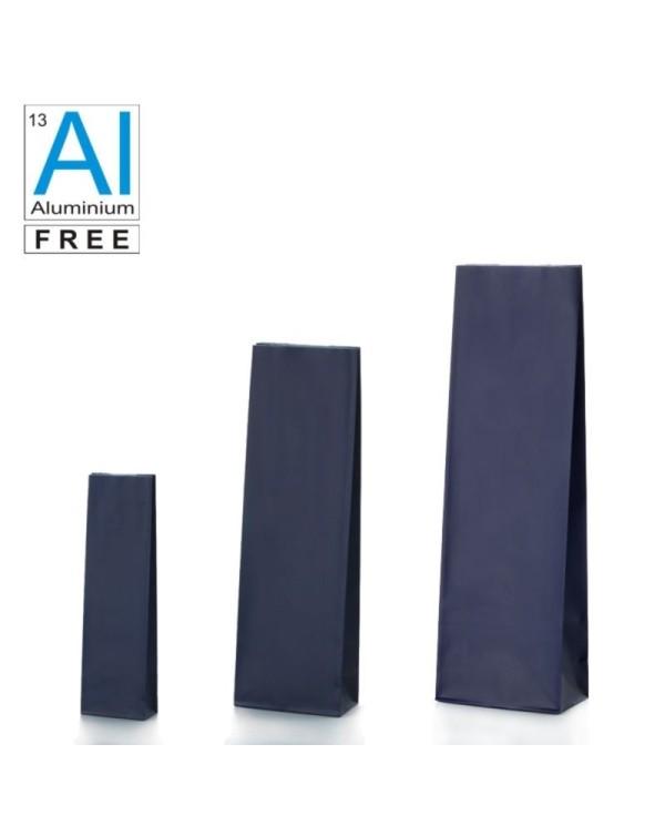 Block bottom bags in matt finish - BLUE