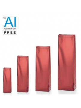 Block bottom bags clasic glossy look - RED