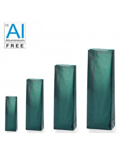 Block bottom bags classic glossy look - GREEN
