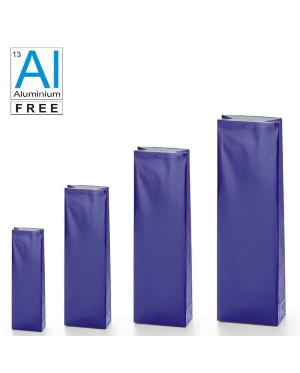 Block bottom bags classic glossy look - BLUE