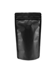 Doypack ZIP bag matt black with valve