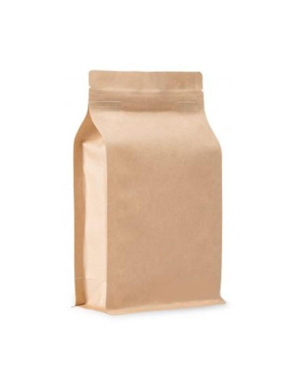 BP brown KRAFT bag with ZIP