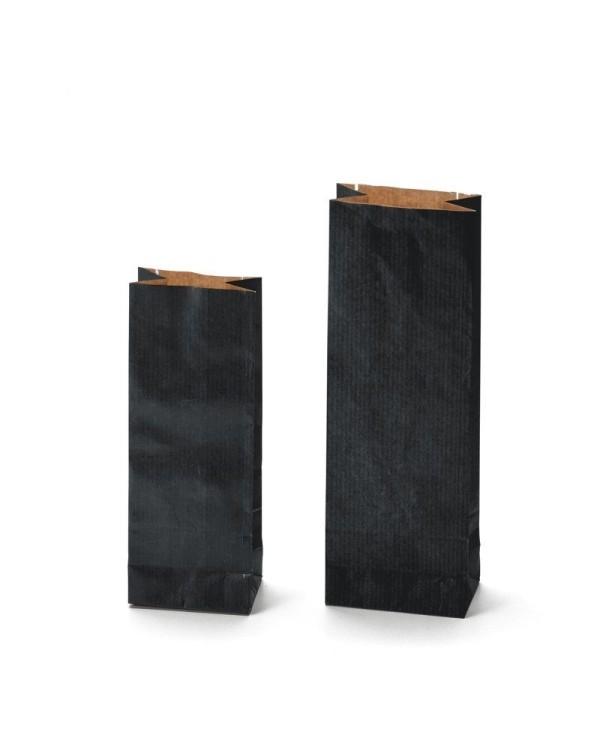 Dvojvrstvové vrecká KRAFT čiernej farby