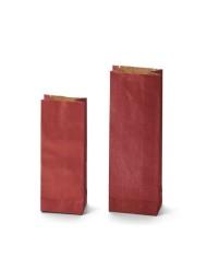 Dvojvrstvové vrecká KRAFT červenej farby