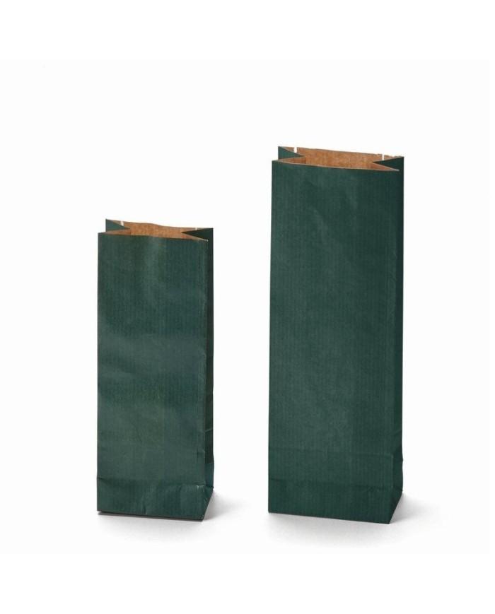 Dvojvrstvové vrecká KRAFT zelenej farby