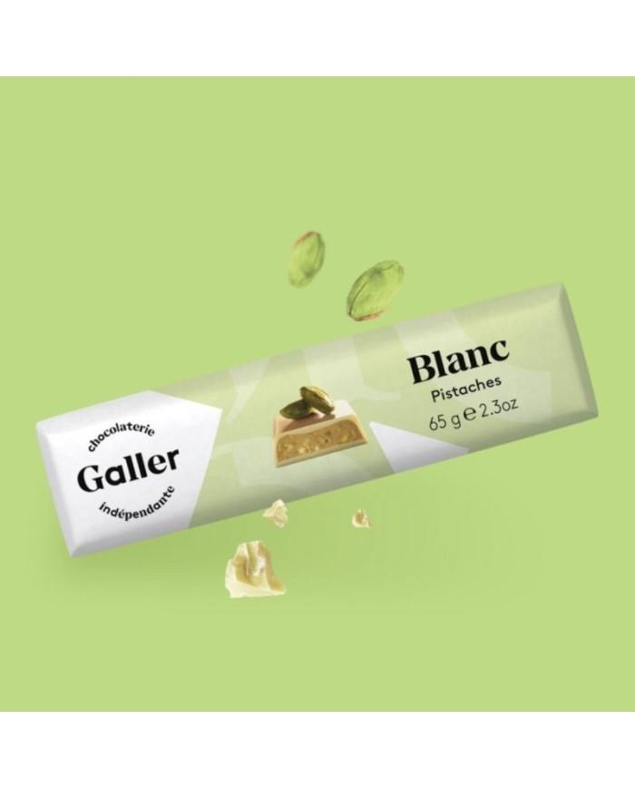 J.Galler - White chocolate Pistaches Fraiches Blanc