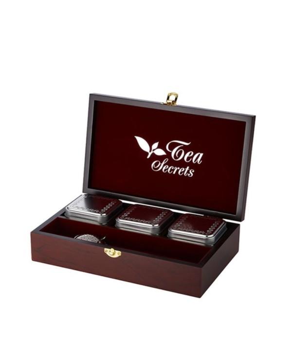 Luxusná drevená kazeta Tea Secrets 3