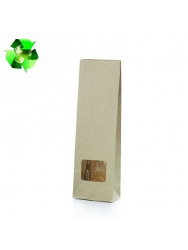 Grass paper bag with window