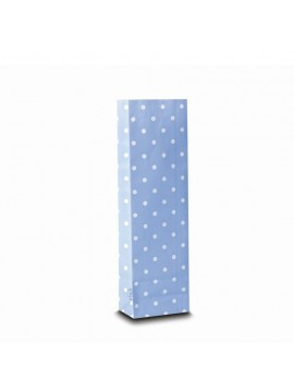 Three layer bag light blue with spots