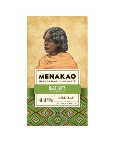 Menakao-  mliečna 44% čokoláda s lieskovými orieškami