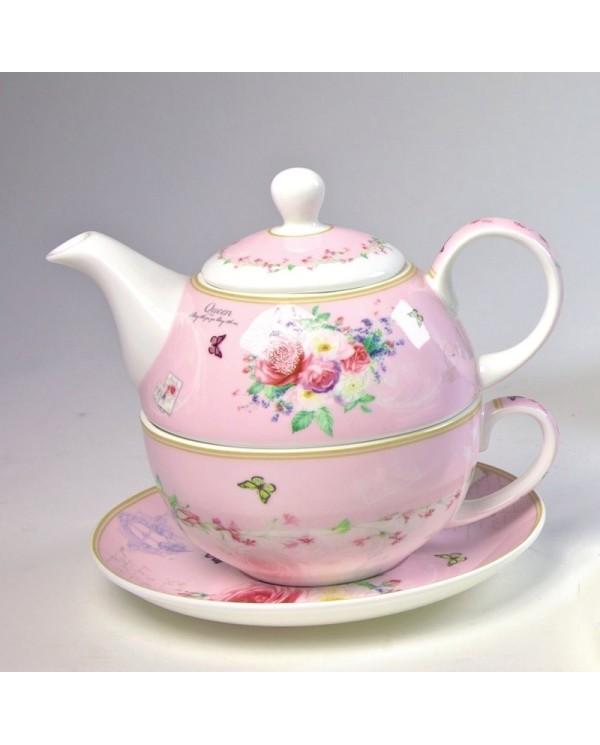 Tea set for one Farmars rose