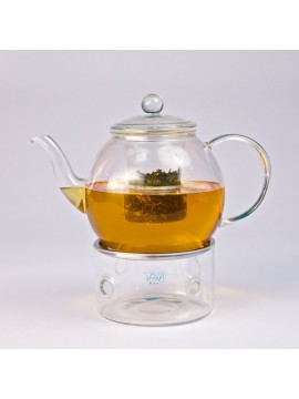 Glass teapot with heater