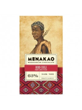 Menakao Dark chocolate min 63 %  chilli