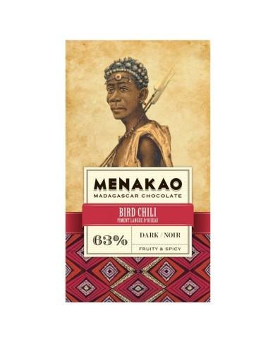 Menakao Dark chocolate min 63 %  chilli