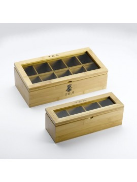 Luxury wooden boxes with packed tea