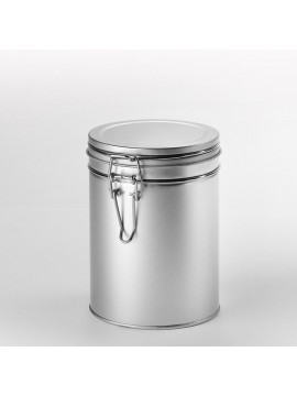 Tin with flavour-protective-clip-lock