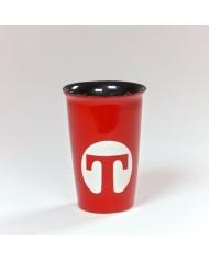 Porcelánový termo pohár červený