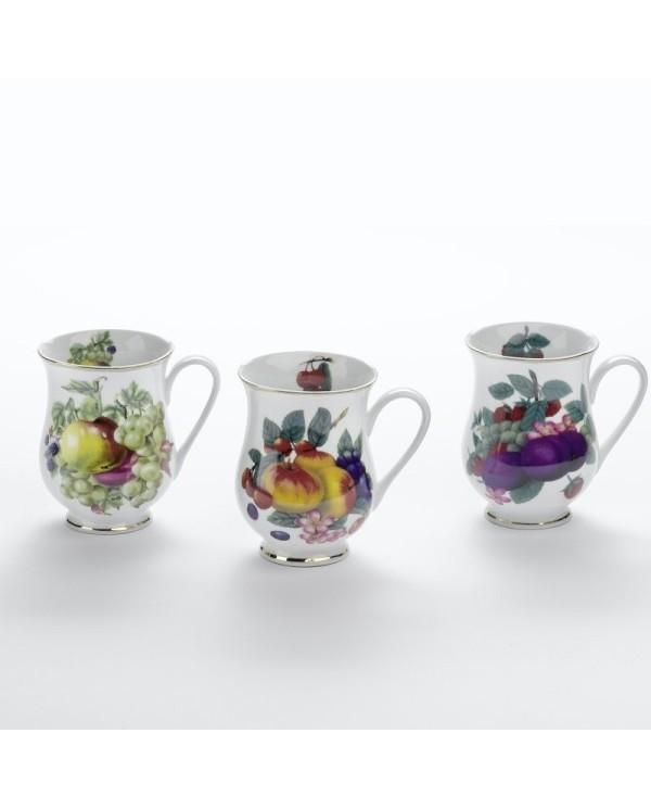 Porcelánové poháre Ovocie