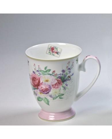 Porcelánová šálka Poľná ruža