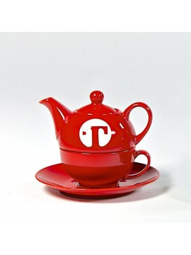 Tea set for one RED