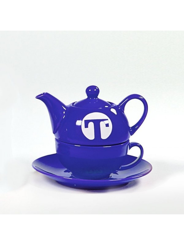 Tea set for one NAVY BLUE