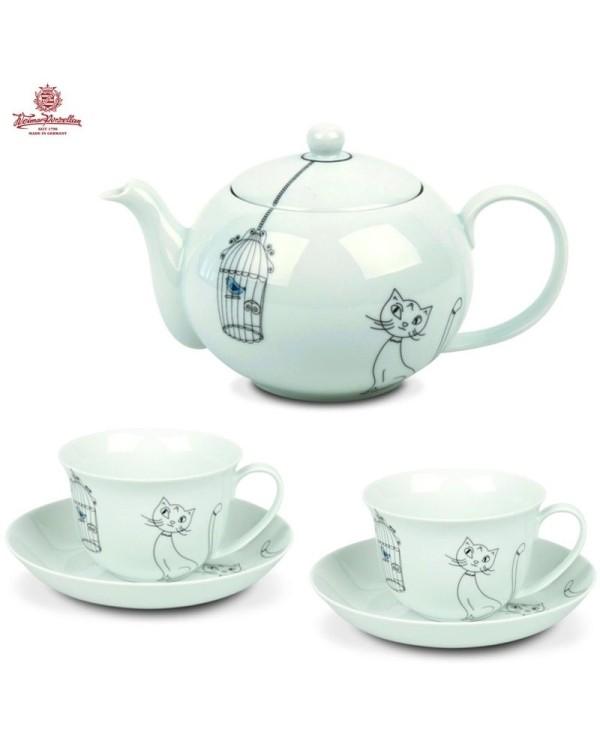 Exkluzívna čajová súprava Tealicious Mačka & Vtáci