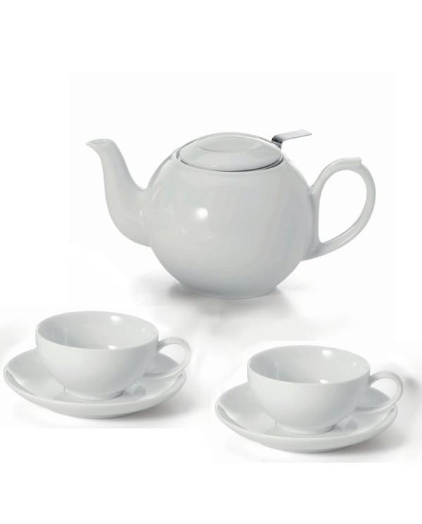 Porcelánová čajová súprava Bianco
