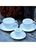Set of porcelain cups for coffee