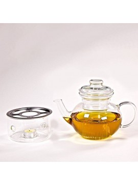Glass teapot Lotus with heater